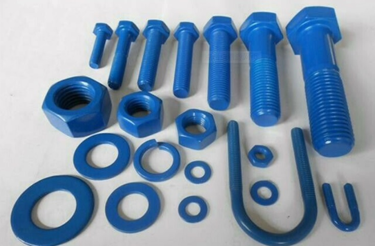 Xylan 1070 blue PTFE Coated Stud Bolt,PTFE Teflon blue coated stud