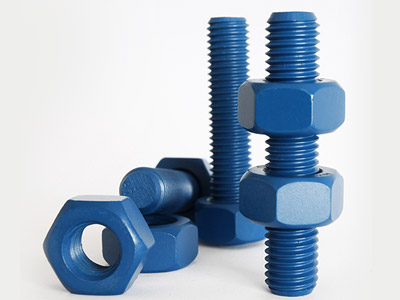 Xylar 2 / Xylan 1070 PTFE coated stud bolts - PTFE coated